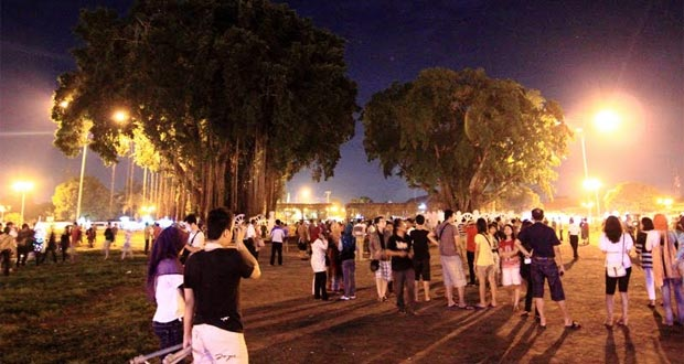 Suasana Alun-Alun Kidul Yogyakarta Malam Hari