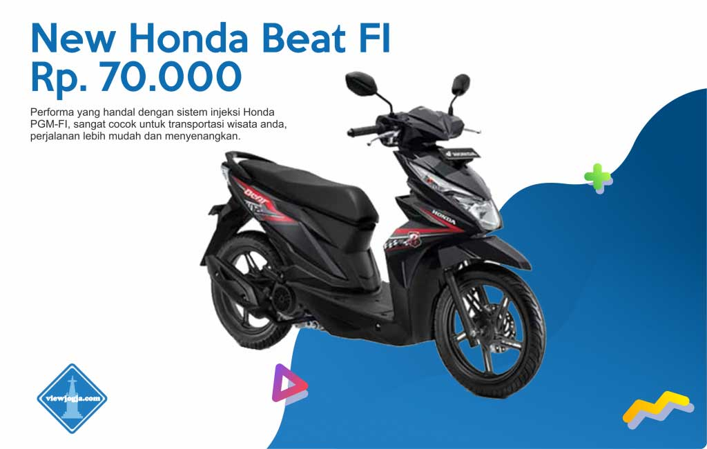 Harga Sewa Motor Jogja New Honda Beat FI di ViewJogja