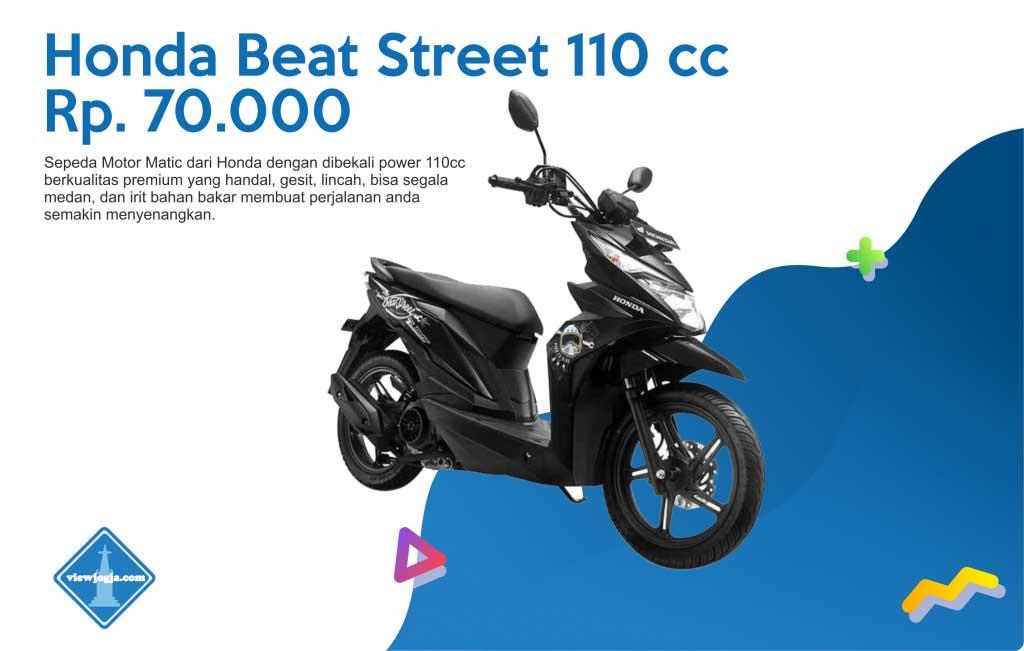 Harga Sewa Motor Jogja New Honda Beat Street 110 cc di ViewJogja