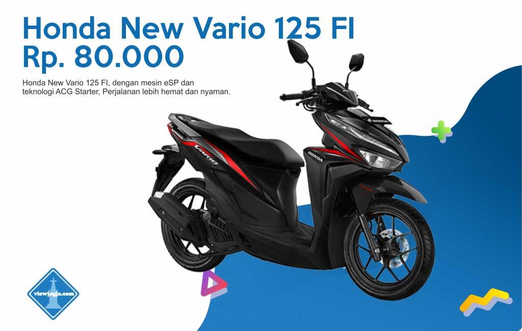 Harga Sewa Motor Jogja New Honda New Vario 125 FI di ViewJogja
