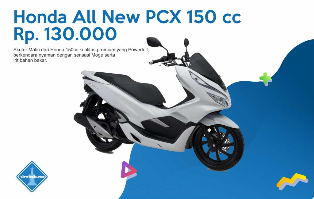 Harga Sewa Motor Jogja Honda All New PCX 150 cc di ViewJogja