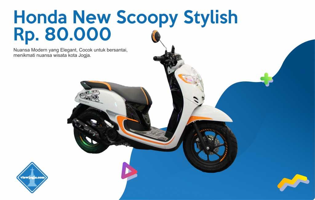 Harga Sewa Motor Jogja New Honda Scoopy FI di ViewJogja