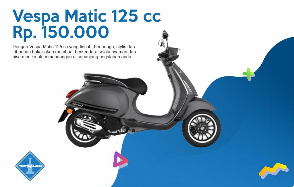 Harga Sewa Motor Jogja New Vespa Matic 125 cc di ViewJogja
