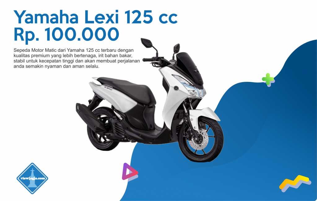 Harga Sewa Motor Jogja New Yamaha Lexi 125 cc di ViewJogja