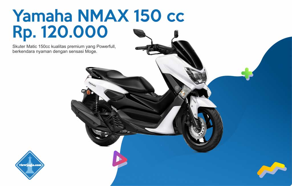 Harga Sewa Motor Jogja New Yamaha NMAX 150 cc di ViewJogja